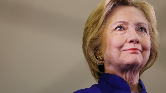 Democratic presidential candidate Hillary Clinton. Spencer Platt | Getty Images